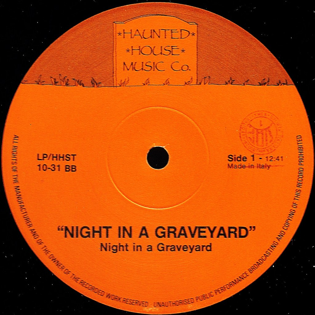 Night In A Graveyard LP label