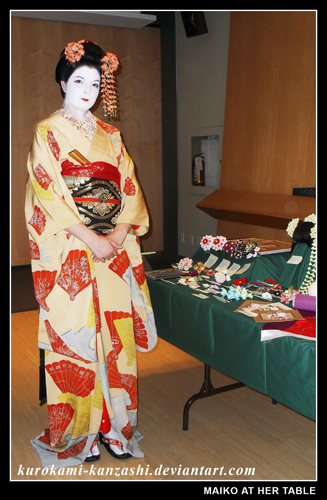 Maiko at Her Table