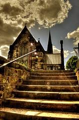 St Oswalds Church (Tony Shertila) Tags: england sky church warrington europe cheshire britain steps hdr stoswald digitalcameraclub winick platinumheartaward hairygitselite flickraward