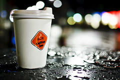 Latte in the rain #314/365 (A. Aleksandraviius) Tags: cup oneaday rain night 35mm lights drops cafe nikon drink bokeh photoaday raindrops 365 nikkor latte lithuania kava pictureaday lietuva d90 project365 365days offee coffeeinn nikkor35mm nikond90 314365 f18g 35mmf18g afsdxnikkor35mmf18g nikon35mm18g