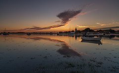 The Calm Before The Storm (Visible Landscape) Tags: uk england westsussex bosham boats sunset sky reflection visiblelandscape clouds colourfull
