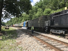 Tygart Run - Belington WV - (primemover88) Tags: speeder railcar excursion nbaldwin milk car narcoa elkins wv west virginia durbin greenbrier valley railroad