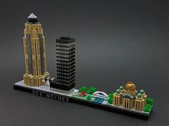 Des Moines, IA skyline (cmaddison) Tags: lego architecture skyline desmoines iowa downtown micro town city