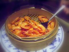 圓籠蒸鮮蝦