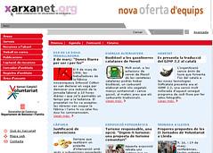 Portal xarxanet.org l'any 2003