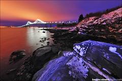 Newport Bridge (benjacobsen) Tags: bridge snow ice water sunrise newport jamestown cokin d700 1424mm