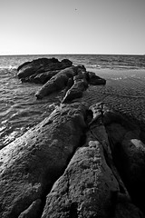 Landscape BW (Paco S.Nacher) Tags: sea bw rock canon mar harry playa paisaje bn alicante sanjuan roca 2470 5dmarkii