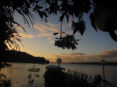 Sunset over Port Vila Harbour