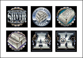 free Sterling Silver slot game symbols