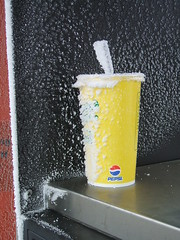 Frost on Paper Cup (ConanTheLibrarian) Tags: winter cold frost cola straw pop pepsi soda softdrink sodapop papercup