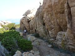 Mur de granit vers la Cala di Merlu