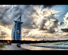 Burj Al Arab (Sh@dows) Tags: travel sunset sea beach architecture clouds creek landscape island dubai uae journey burjalarab friday 7star jumairah sarin tallesthotel 7starhotel canonef24105mm platinumphoto sarinsoman platinumheartaward eos7d weekendphotoshoot canon7d artofimages bestcapturesaoi