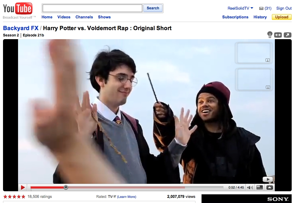 Bill Cammack - Indy Mogul Harry Potter vs. Voldemort Rap 2 Million YouTube Views