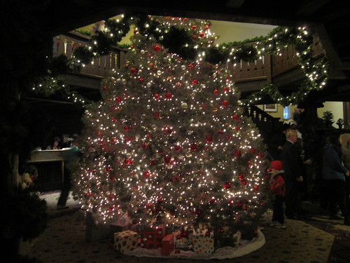 Chirstmas tree in the El Tovar Hotel