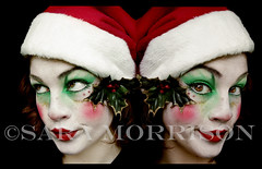 Grinch Sisters (Sara_Morrison) Tags: christmas red white verde green navidad makeup grinch elf santaclaus natale rosso cappello babbonatale elfo