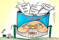 Dustbin of History (TwoCircles.net) Tags: india politics cartoon congress commission committee yusuf misra sachar ranganath liberhan