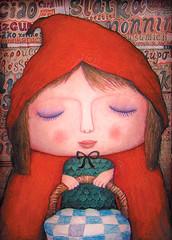 Little Red Cap Girl (VLADIMIR... . . .) Tags: portrait color art illustration fairytale painting design artwork picture littleredridinghood characters illustrator rus characterdesign