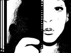Maribel <3 (prettylyrics) Tags: beauty mascara lipstick blackandwhitephotography camerafilm youngsoul