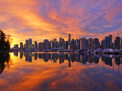 Sunrise (bruce...) Tags: sky urban canada reflection water vancouver sunrise landscape dawn nikon bc britishcolumbia stanleypark waterscape d300 tamronspaf1750mmf28xrdiiildasphericalif
