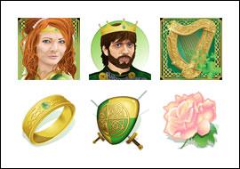 free Celtic Crown slot game symbols