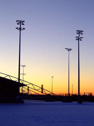 Meggetland sports ground, winter sunset 02