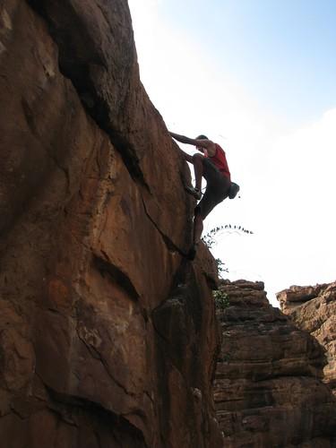 Badami Rock Climbing Bouldering Dil Route