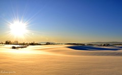-27 ;) (robsonponte) Tags: winter sunset sky snow norway landscape lights nikon klfta d90 rubyphotographer