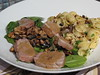 Pork tenderloin in mustard-wine sauce