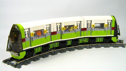 LEGO Proudlove green commuter train