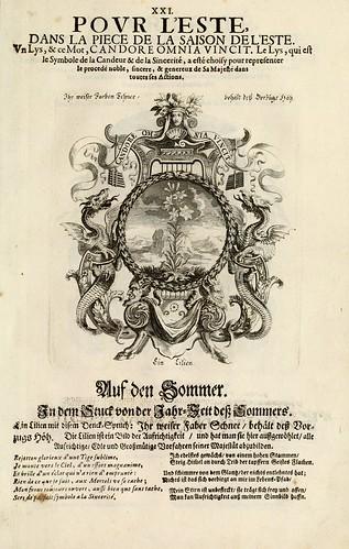 024- Divisa 1 tapiz del Verano-Tapisseries du roy, ou sont representez les quatre elemens 1690- Sebastien Le Clerc