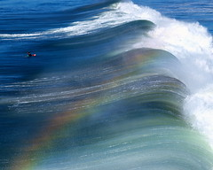 Spraybow (Bryce Bradford) Tags: pier rainbow wave olympus spray oceanside zuiko 40150mm f3545 e520 spraybow