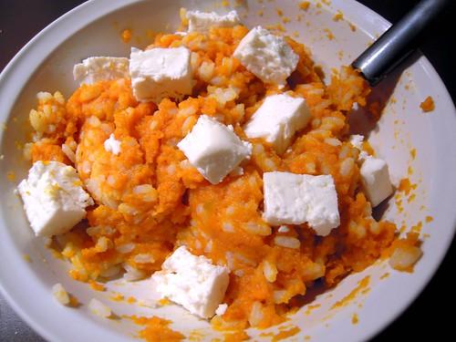crema di carote-riso-feta