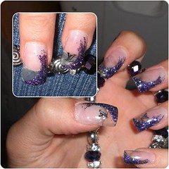 Uas decoradas (saludgl) Tags: hands purple manos nails gel louisvuitton fantasies uas transparentes morado transparents kylua uasdecoradas nailsfantasies uasgel haciendomanitas doinghandyman decoracinfantasias