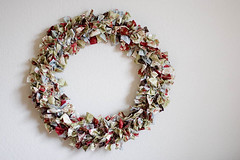 Fabric Wreath (Little Bluebell) Tags: moda glace honeybun rachelgriffith fabricwreath modabakeshop