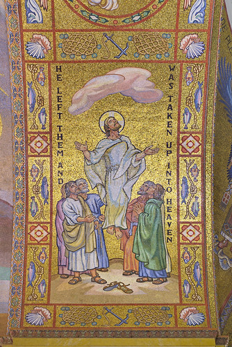 Cathedral Basilica of Saint Louis, in Saint Louis, Missouri, USA - mosaic of Ascension