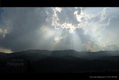 The rays (georgesanu) Tags: sky cloud sun mountains nikon hide rays mala wayanad sanu thirunelli d40x thirunelliwayanadsanud40xskysunsanugeorge