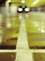 fear of the dark (Meyer Felix) Tags: auto street water car 50mm wasser garage parking olympus dirt e pentacon f18 schmutz parkhaus 410 parkdeck strase e410