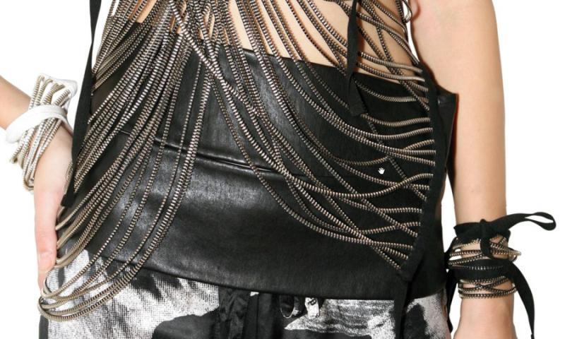 Ann Demeulemeester SS2010 multi zipper vest 1