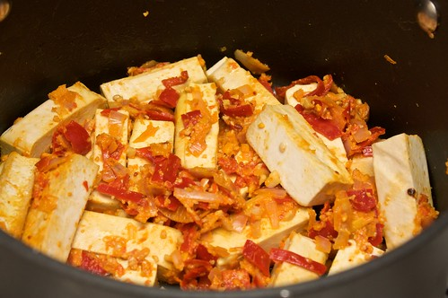 tofu rendang - in progress
