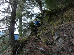 Mike coming down the cliffy area