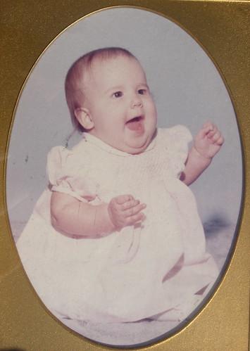 Caroline as a baby