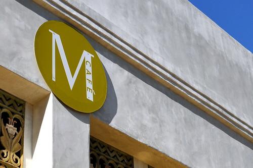 M CAFE SIGNAGE