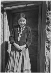 """""""Navajo Girl, Canyon de Chelle, Arizona."""" [Canyon de Chelly National Monument] (vertical orientation)"""