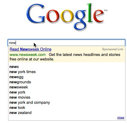 Google Suggest AdWords
