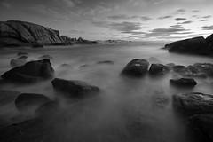 20091226_147 (Zalacain) Tags: ocean longexposure sea blackandwhite water night clouds landscape coast spain rocks cloudy galicia blackwhitephotos gettyimagesiberiaq2