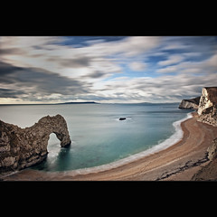 From the cliffs (Reed Ingram Weir) Tags: door longexposure blue sea seascape landscape coast nikon 10 tide cliffs coastal dorset filters stops durdle 2470mm d700