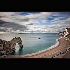 From the cliffs (Reed Ingram Weir) Tags: door longexposure blue sea seascape landscape coast nikon 10 tide cliffs coastal dorset filters stops durdle 2470mm d700