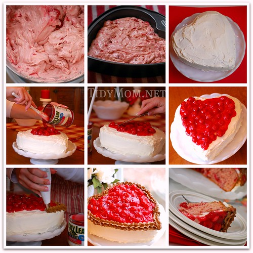 Sweetheart Cherry Cake Collage