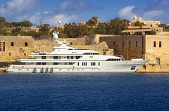 Roma (albireo 2006) Tags: blue sea white roma water mediterranean yacht malta megayacht gzira manoelisland superyacht taxbiex yachtmarina myroma