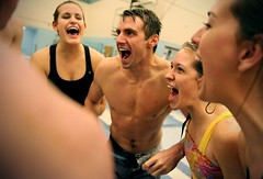 Making a splash (Daily Herald) Tags: water students swimming swim utah scream coed excitement shouting byu swimmingsuit brighamyounguniversity